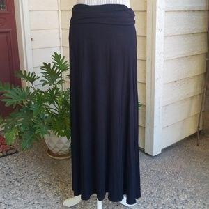 Worthington Petite Black Maxi Skirt with Yoga Band